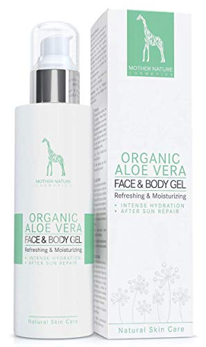 BIO-Aloe Vera Gel mit 95% reinem Aloe Vera Saft - VEGAN - 200 ml made in Austria by Mother Nature Cosmetics - hochwirksames, verwöhnendes Feuchtigkeitsgel für Körper und Haar, klebt nicht