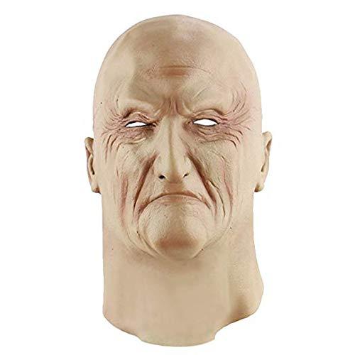 Spachy Halloween Party Maske Latex Lustige Angst Deko Maske Requisiten Unterwelt Boss Full Face Maske Party Kostüm Dekoration, Underworld Boss, Free - Unterwelt Kostüm