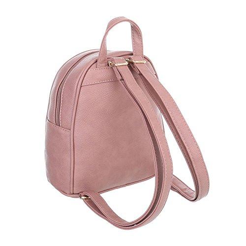 Taschen Freizeittasche Mit Nieten Hellrosa