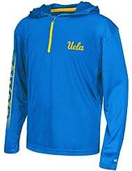 "UCLA Bruins Youth NCAA ""Sleet"" 1/4 Zip Pullover Hooded WindShirt Chemise"