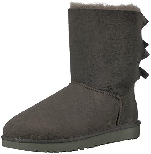 UGG Female Bailey Bow II Classic Boot, Grey, 3 (UK)