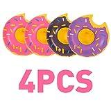 4 piezas inflable Donuts unicornio árbol de coco playa flotante bebida soporte piscina baño niños verano playa juguetes de agua