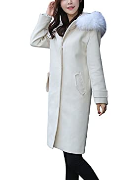 Donna Manica Lunga Outwear Slim Fit Cappotto Lungo Trench Blazer Giacca Parka