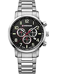 Wenger Men's 'Sport' Swiss Quartz Stainless Steel Casual Watch, Color:Silver-Toned (Model: 01.1543.102)