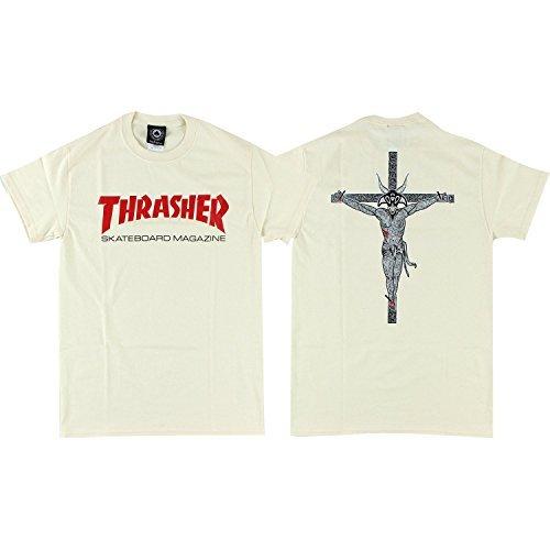 Thrasher Resurrection T-Shirt - Size: MEDIUM Natural by Thrasher