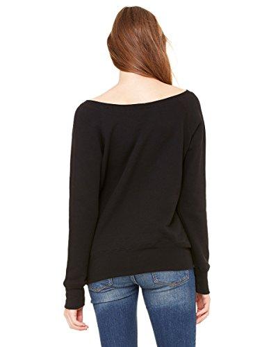 Bella Canvas - Sweat-shirt - Solid - Manches Longues - Opaque - Femme Noir uni, mélange 3 matériaux