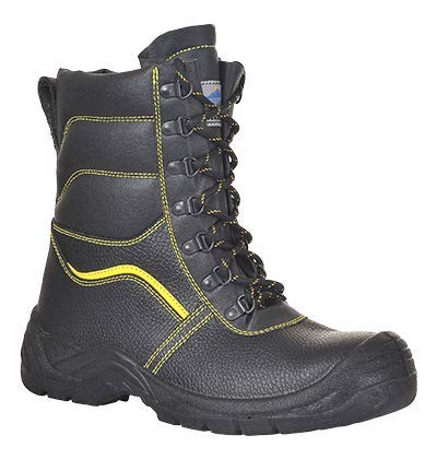Steelite portwest fw05-stivali di protezione con interno in pelo, misura: 37, 47, nero