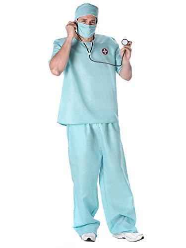 Arzt Kostüm Und Patient - KULTFAKTOR GmbH Chirurg Kostüm OP-Arzt hellblau XL