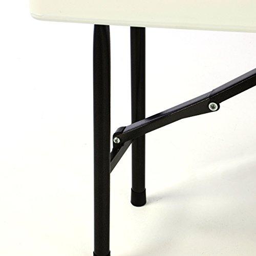 Bierzeltgarnitur 1 Partytisch 2 Bänke klappbar weiß 180 cm Gartengarnitur Set Festzelt Campingset Klapptisch 180×74 cm robust wetterfest - 7
