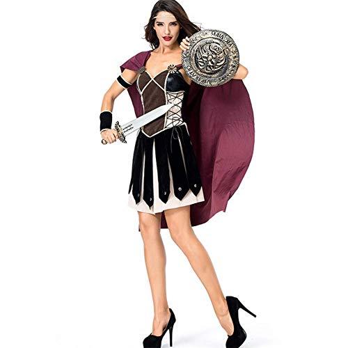 Unbekannt Halloween Cosplay Frauen Spartan Weibliche Krieger Antiken Römischen Arena Gladiator (Gladiator Krieger Prinzessin Kostüm)