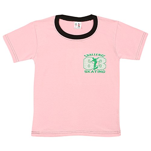 S.R.KIDS Cotton Boys Rib Neck Pink Tshirt (SR-BRIBNECK-TSHIRT-PK_2-3Y)  available at amazon for Rs.98