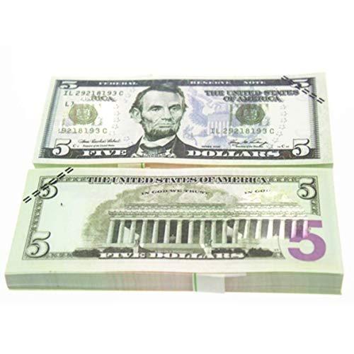 Noradtjcca 10 Teile/Satz Einzigartige Amerikanische Goldfolie Dollar Banknote Falschgeld Kunsthandwerk Hoch Sammlung Kunsthandwerk Liefert -