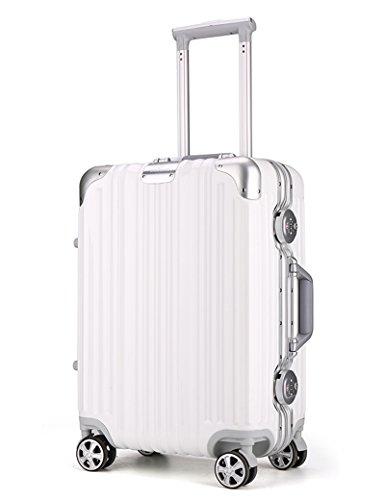 PC Material Aluminium Rahmen Mute Universal - Round Scratch Wearable Aluminium Alu Trolley Case Double Lock Passwort Box Gepäck Tasche ( Farbe : 2 , größe : 20 inch ) 7