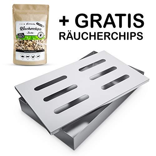Räuchergarten Smokerbox - Edelstahlbox für Gas-, Kohle- und Elektrogrill - Räucherbox für...