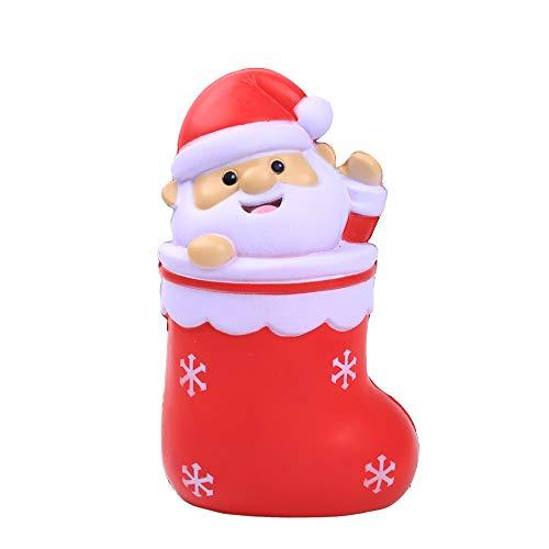 (Weihnachten Spielzeuge,Covermason Squishy Toys Spielzeug Jumbo Cute Stress Kombination Toys angsames Aufstehen Duftend Stress abbauen Spielzeug (Rot))