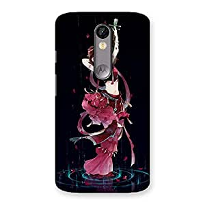 Gorgeous Princess Pose Back Case Cover for Moto X Force