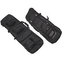Tactical 85cm rifle francotirador Pack doble de nailon bolsa de funda de transporte pistola Airsoft caza negro