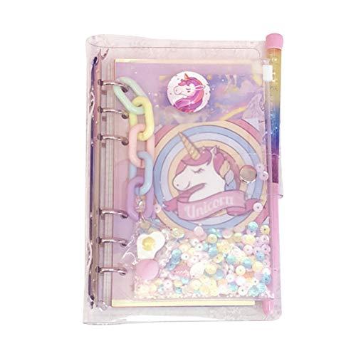 Toyvian Cuadernos de viaje Unicornio Diario de dibujos animados Planificador semanal Cuadernos Blocs de notas para niñas