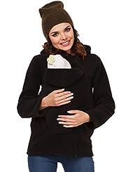 Zeta Ville - Sudadera capucha portabebé bolsillo funcional - para mujer - 031c