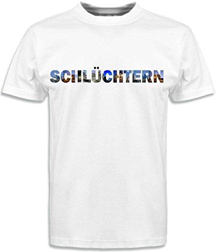 T-Shirt mit Städtenamen Schlüchtern Weiß