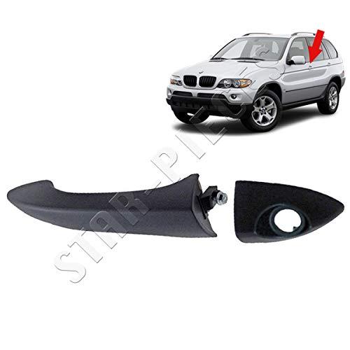 Aramox Poignee de porte exterieure exterieure de voiture Poignee de porte exterieure avant gauche du cote conducteur pour E53 X5 2000-2006 51218257737