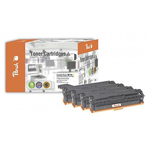 Preisvergleich Produktbild Peach Spar Pack Tonermodule kompatibel zu HP CB540, CB541, CB542, CB543