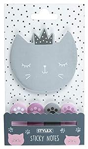 Stylex 31299 Cat Collection - Juego de Notas Adhesivas, Multicolor