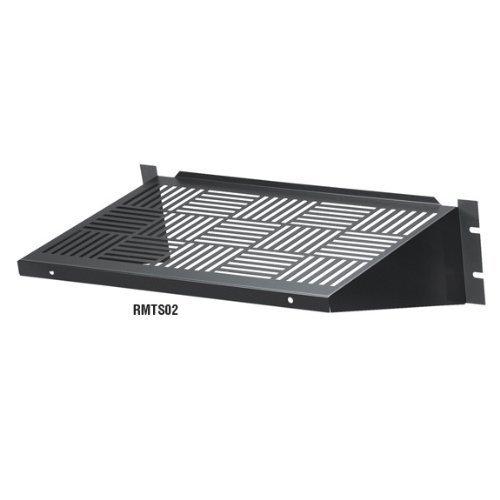 Black Box Rackmount Vented Fixed Shelf, 35-lb. Capacity by Black Box (Rackmount Box Black)