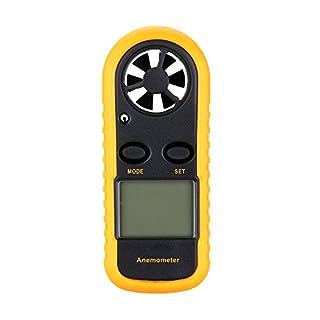 Kkmoon GM 816Wind Speed Gauge Meter Measure Anemometer Wind Speed Meter Handheld Guage Meter Temperature Thermometer LCD Backlight Display