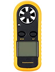 KKmoon Handwindmesser Digitaler Windmesser mit Anemometer Thermometer