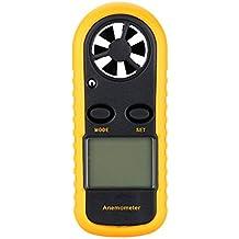 Anemómetro medidor de velocidad del viento de mano Kkmoon GM 816. Termómetro yl medidor de viento con indicador de iluminación de fondo LCD