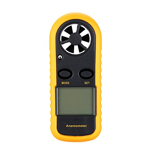 Anemómetro medidor de velocidad del viento de mano Kkmoon GM 816. Termómetro yl medidor de viento...