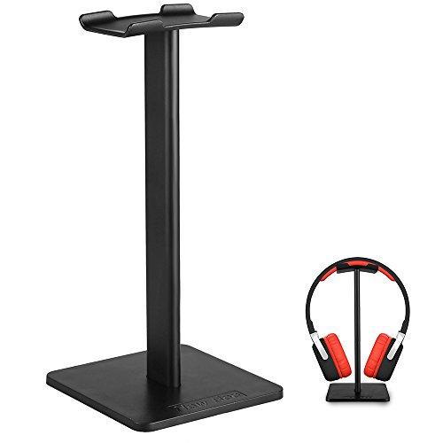 Kopfhörer Ständer, WeGood Headset Halter Portable Kopfhörerstand Universelle Ohrhörer Halter für Haus oder Büro (Schwarz)
