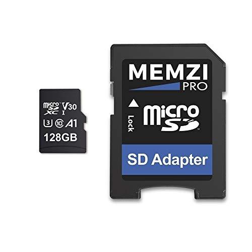 MEMZI PRO 128 GB Micro SDXC Speicherkarte für GoPro Hero7/Hero6/Hero5, Hero 7/6/5, Fusion Action Kameras - Schnell Klasse 10 UHS-1 U3 V30 100 MB/s Lesen 90 MB/s Schreiben 4K Aufnahme mit SD Adapter (Gopro Hero 3 Silver Speicherkarte)