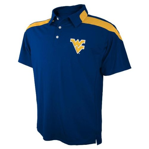 West Virginia Mountaineers NCAA Embroidered Logo Polyester Polo Shirt