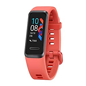 """HUAWEI Band 4 Smart Band, Fitness Activities Tracker with 0.96"""" Color Screen, 24/7 Continuous Heart Rate Monitor, Sleep Tracking, 5ATM Waterproof, up to 6 Days of Usage Time, Amber sunrise"""