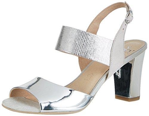 Caprice Damen 28307 Offene Sandalen mit Keilabsatz, Silber (Silver ME.Comb), 38 EU