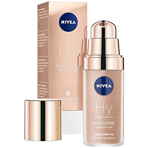 NIVEA PROFESSIONAL Hyaluronsäure Anti-Age Make-Up Foundation, 60C, kühler Hautton, Anti-Aging...