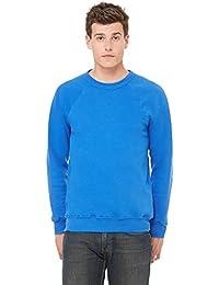 Bella+Canvas Rib Sponge Fleece Pullover Sweatshirt, True Royal