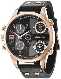 Police Jackson Herren-Armbanduhr Analog Quarz Leder - PL.94379AEU/02