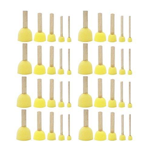 XL Stupf-Pinsel /Ø 6cm Stupfschwamm Schwammpinsel Tupfpinsel Schablonierpinsel