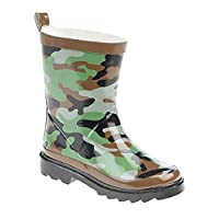 Infant Green and Brown Camouflage Print Puddle Wellington Boots Girls (Infant 4 - Junior 2)