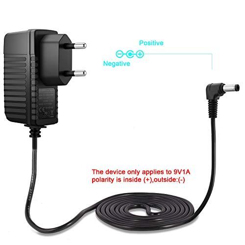 Aukru 9V 1000mA alimentador Cargador 5.5mm x 2.1mm para Arduino Uno REV 3