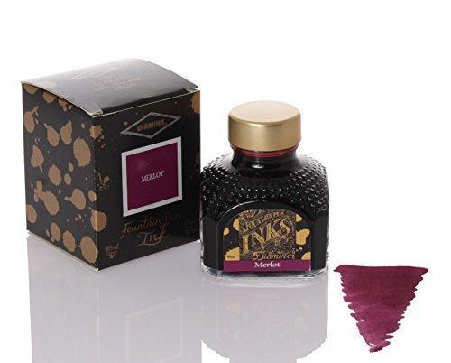 Diamine Ink Merlot,Violett,Lila Tinte,Schreibtinte im Tintenglas,80 ml (Violett 091)