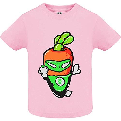 LookMyKase T-Shirt - Super Carrot - Bébé Fille - Rose - 2ans