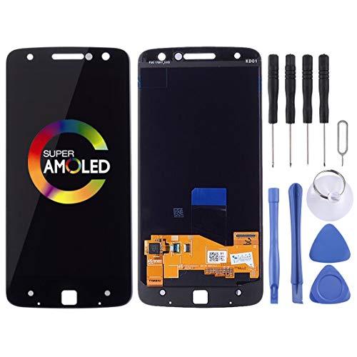 YANSHANG Parti di Ricambio per Smartphone LCD Screen e Digitizer Full Assembly per Motorola Moto Z Droid XT1650-01 XT1650-03 (Nero) Parti di Riparazione (Colore : Black)