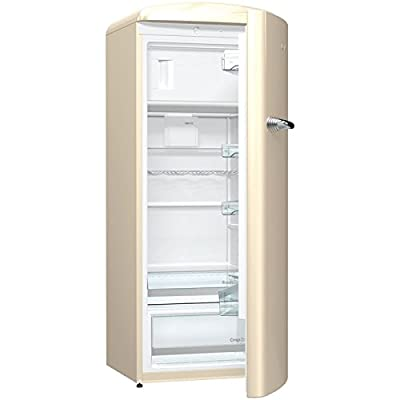Gorenje ORB153C A+++ Retro Style 4 Shelves 229 Litres Fridge with Ice Box (Right Hand Hinge) in Cream