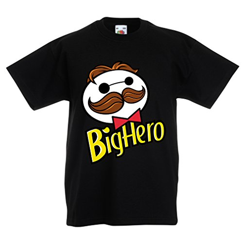 N4423K La Camiseta de los niños Big Hero (14-15 Years Negro