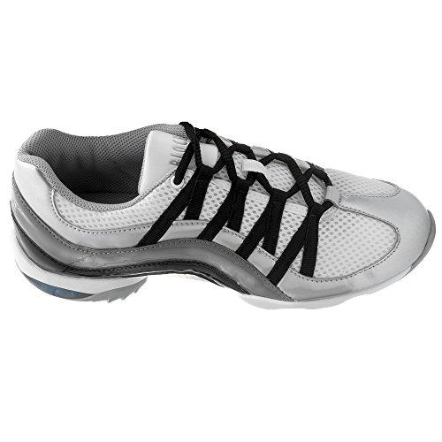 Bloch 523 Wave Tanz Sneaker Silber Größe 39 1/3