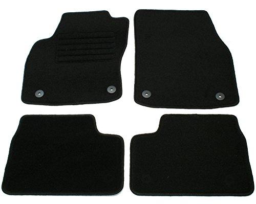 AD Tuning GmbH HG10905 Velours Passform Fußmatten Set Schwarz Autoteppiche Teppiche Carpet Floor mats